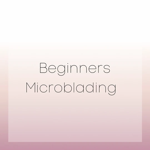 BEGINNERS MICROBLADE COURSE