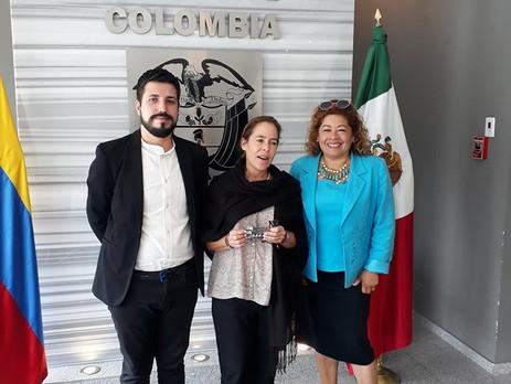 Reunión de trabajo en la Embajada de Colombia en México con motivo de la Octava Edición del Festival