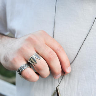 Men's rings by Annie Collins