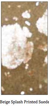 Beige Splash Printed Suede
