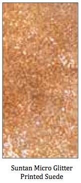Suntan Micro Glitter Printed Suede