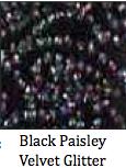 Black Paisley Glitter