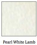 Pearl White Lambskin