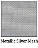Metallic Silver Mesh