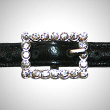 Silver Rectangle Rhinestone Buckle