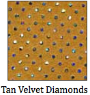 Tan Velvet Diamonds