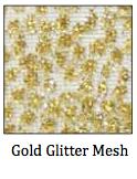Gold Glitter Mesh