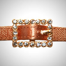 Gold Rectangle Rhinestone Buckle
