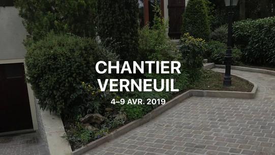 Chantier de pavage à Verneuil sur Seine - Pedra Bonita