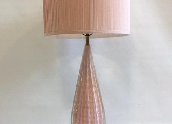 Alfredo Barbini Murano Glass Table Lamp Circa 1950s
