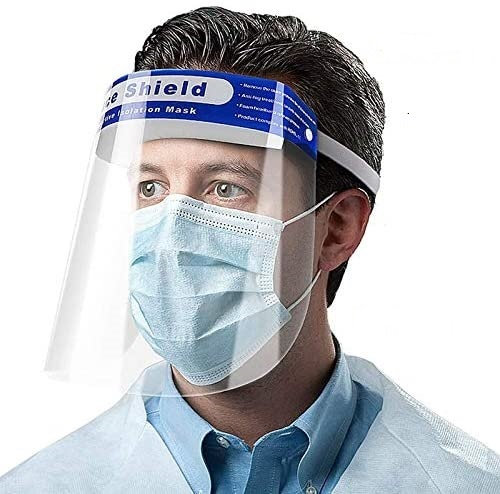 20 Pcs Antifog Face Shields
