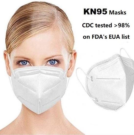 40 PCS KN95 Respirators- on FDA Emergency Use Authorization (EUA)List