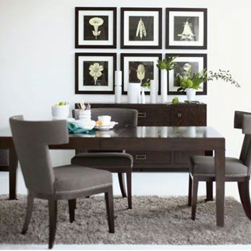 Bernhardt Dining Table with Six Chairs Set