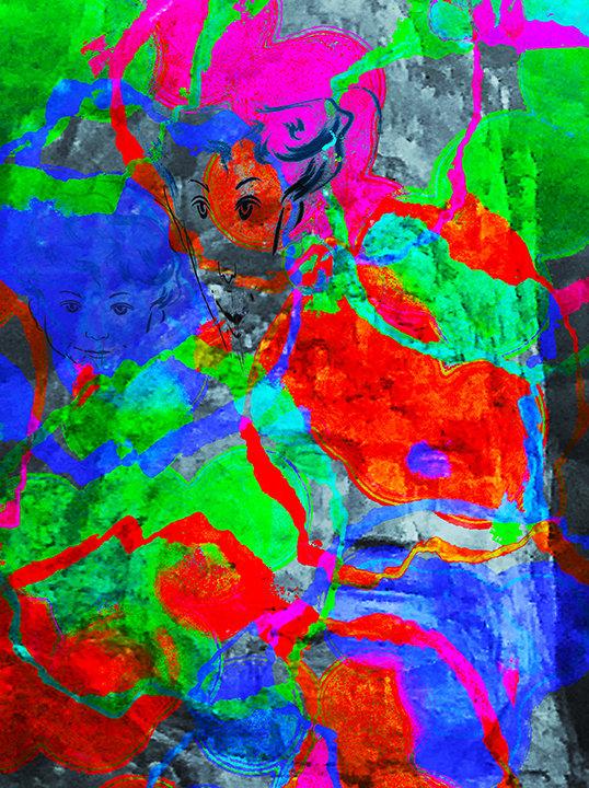 Energy in the Rocks - Digital Painting by Joel Schreck