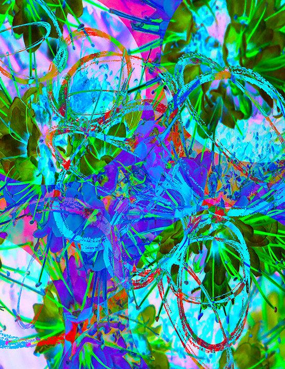 flower energy - digital art by Joel Schreck
