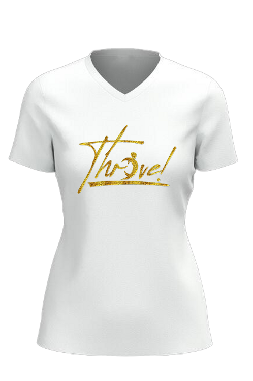 Women's V-Neck Thrive T-shirt