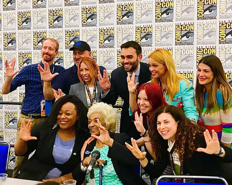 Rep. John Lewis's Policy Advisor and Co-Author of MARCH Trilogy Andrew Aydin joins Star Trek icon Nichelle Nichols and Coalition Curriculum team Carrie Goldman, Dr. Janina Scarlet, Dr. Andrea Letamendi, Vanèe Matsalia, and Chase Masterson, along with MARCH artist Nate Powell, DC Comics Publisher Dan DiDio, and activist/actress Jen Padalecki