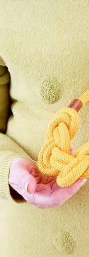 Collana in corda nautica gialla modello A 8