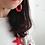 Thumbnail: Orecchini in corda nautica rosso