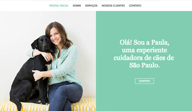 Animais website templates – Cuidador de cães