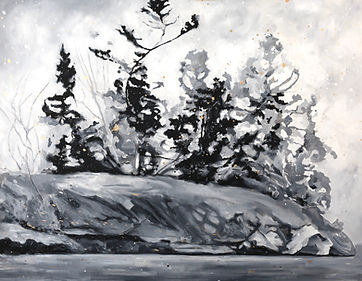 Spring French River Painting 36x48 - 1 (