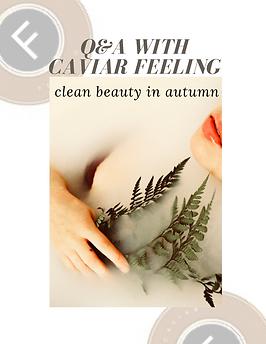 clean beauty Caviar Feeling
