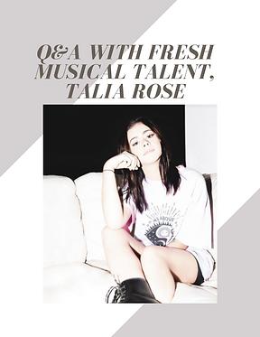 Talia Rose interview bubble. magazine