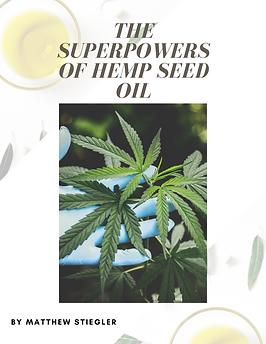 Hemp Seed Oil bubble. magazine