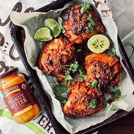 Tray baked spicy peanut butter chicken recipe bubble. magazine