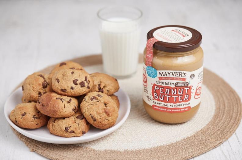 Mayver's peanut butter & choc chip cookies recipe