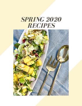 spring 2020 recipes bubble. magazine