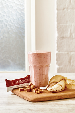Strawberry peanut caramel smoothie recipe bubble. magazine