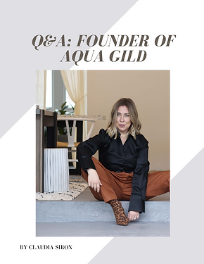 aqua gild Q&A bubble. magazine