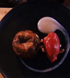 Chocolate dessert Frenchies Brasserie bubble. magazine