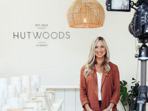 The founder and boss babe behind luxury homewares brand Hutwoods