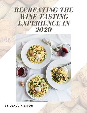 Recreation of Wine tasting in 2020 bubble. magazine