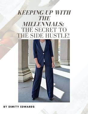 The secret to the side hustle Dimity Edwards bubble. magazine