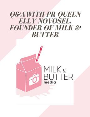 Milk and Butter bubble. magazine