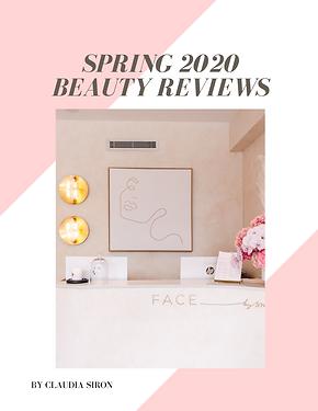 spring 2020 beauty reviews bubble. magazine