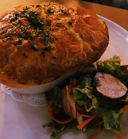 Pink snapper pie Frenchies Brasserie bubble. magazine