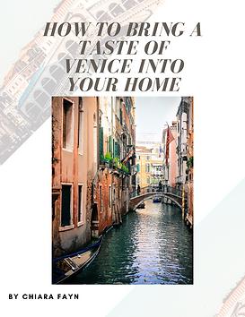 Taste of Venice at home bubble. magazine