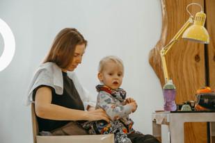 в салон красоты с ребёнком