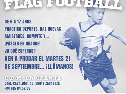 SPARROWS ZARAGOZA TE ACERCA EL FOOTBALL FLAG