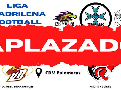 Primera jornada de LMFFF APLAZADA por las condiciones de los campos a causa de la borrasca Filomena