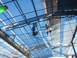 Tension net system installation at WA refinery.