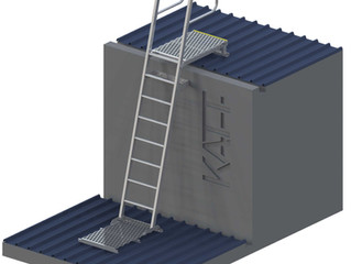 Preferred angle for rung ladders is 75 degrees.
