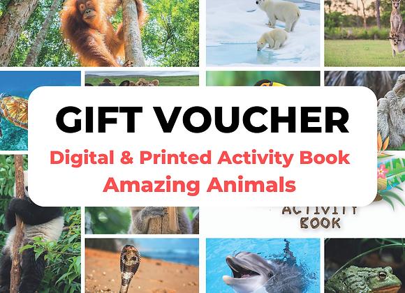 Amazing Animals Digtal + Print Gift Voucher