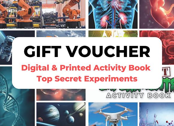 Top Secret Experiments Digital + Print Gift Voucher