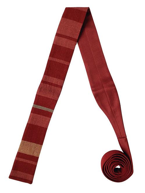 Corbata Rayada Guinda
