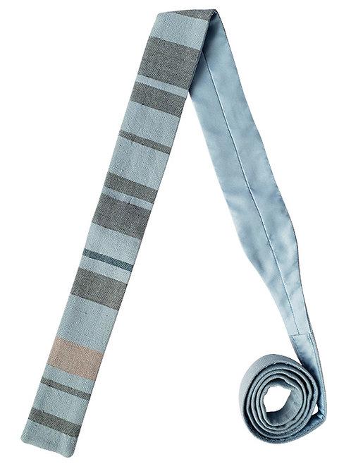 Corbata Rayada Azul Claro